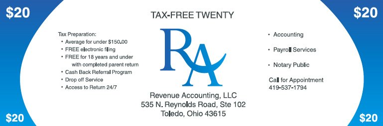 Tax Preparation Savings Coupon